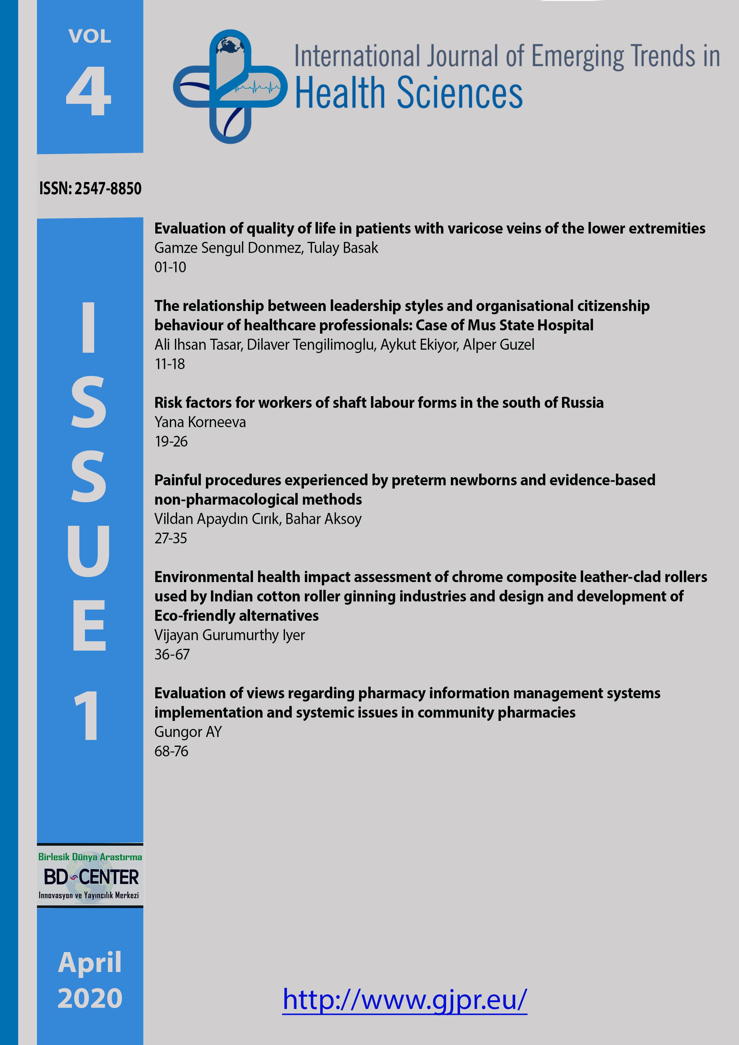 International Journal of Emerging Trends in Health Sciences-Asos İndeks