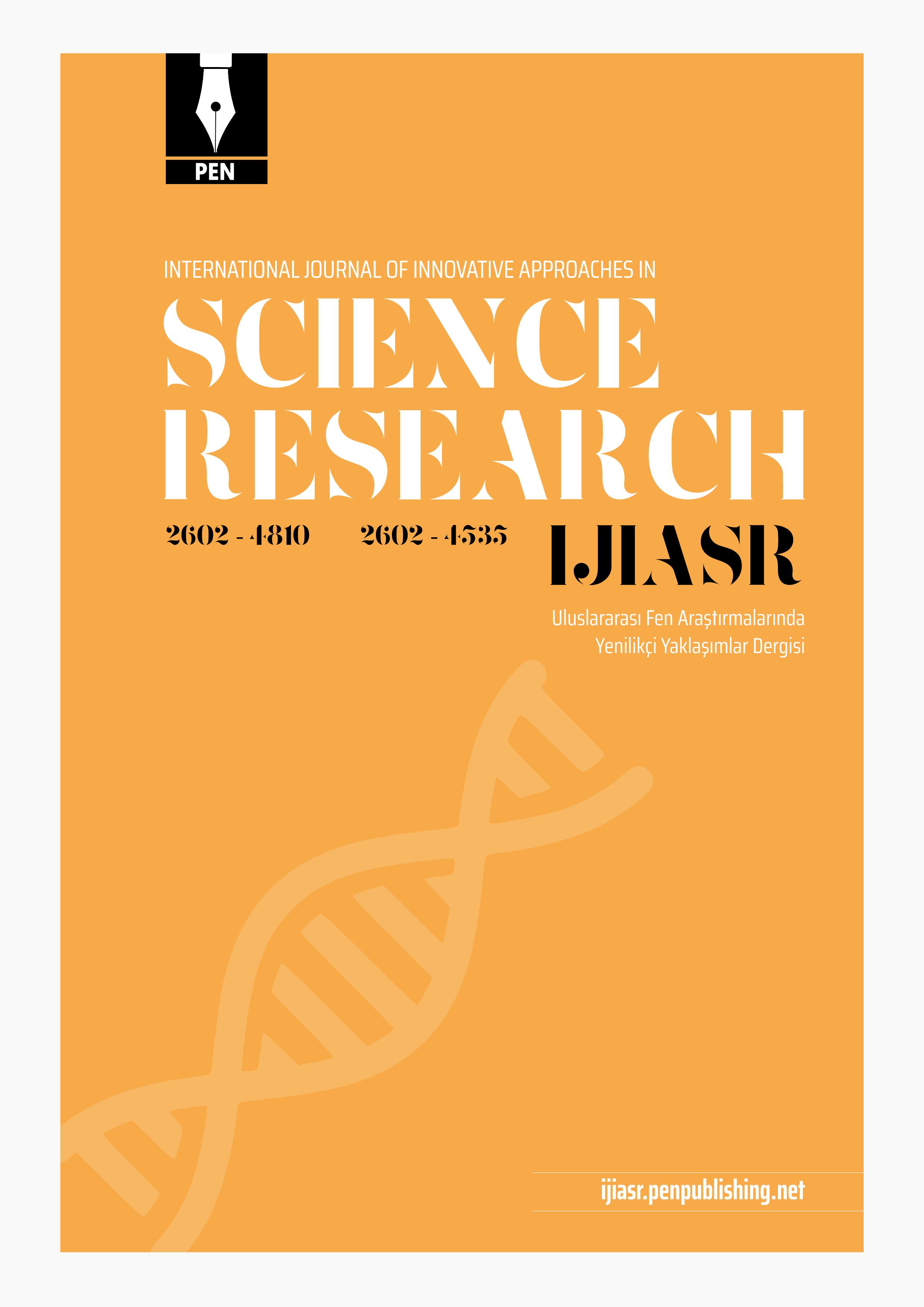 Uluslararası Fen Araştırmalarında Yenilikçi Yaklaşımlar Dergisi-Asos İndeks