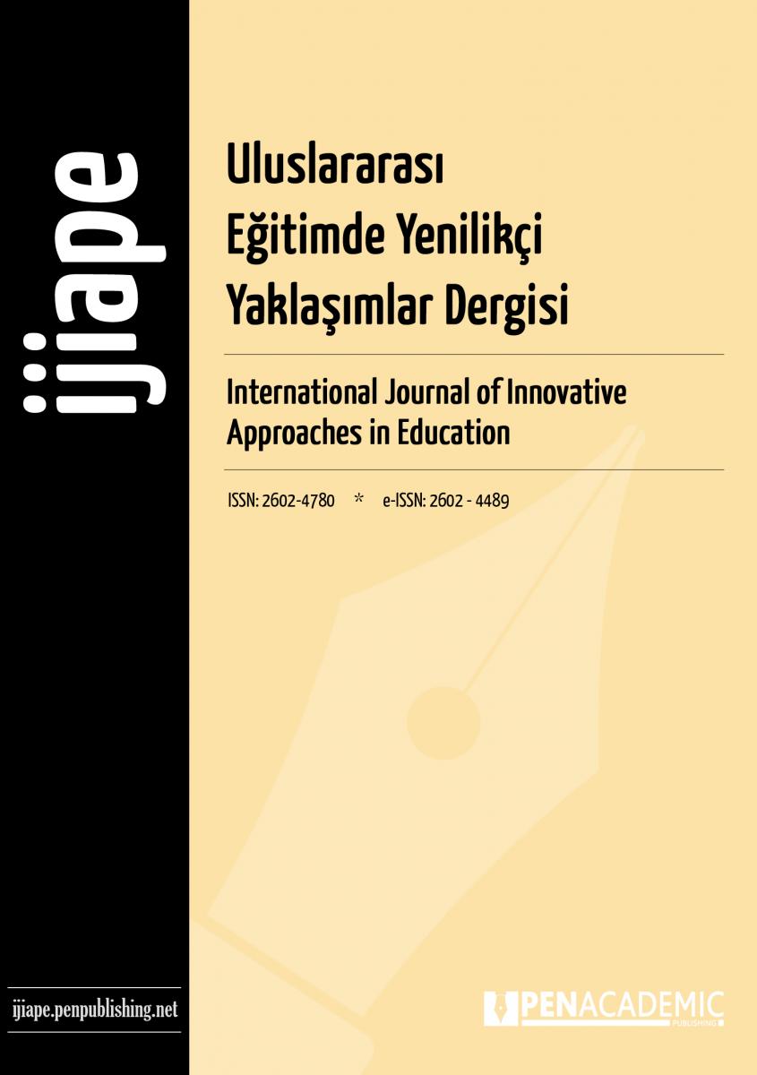 Uluslararası Eğitimde Yenilikçi Yaklaşımlar Dergisi