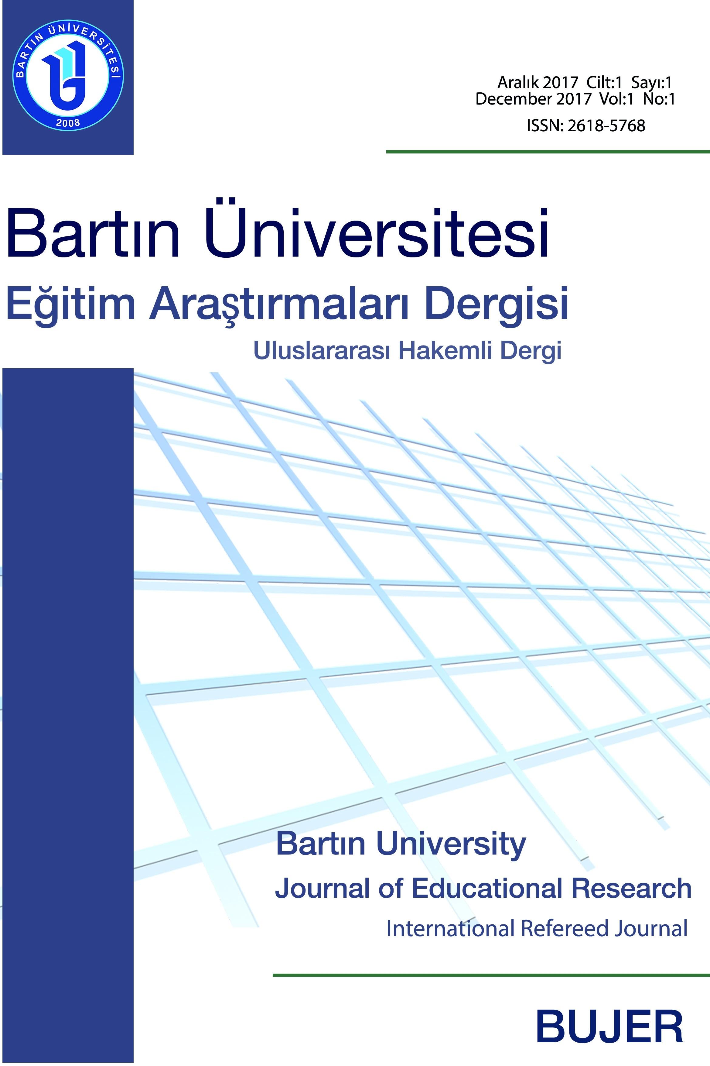 Bartın Üniversitesi Eğitim Araştırmaları Dergisi-Asos İndeks