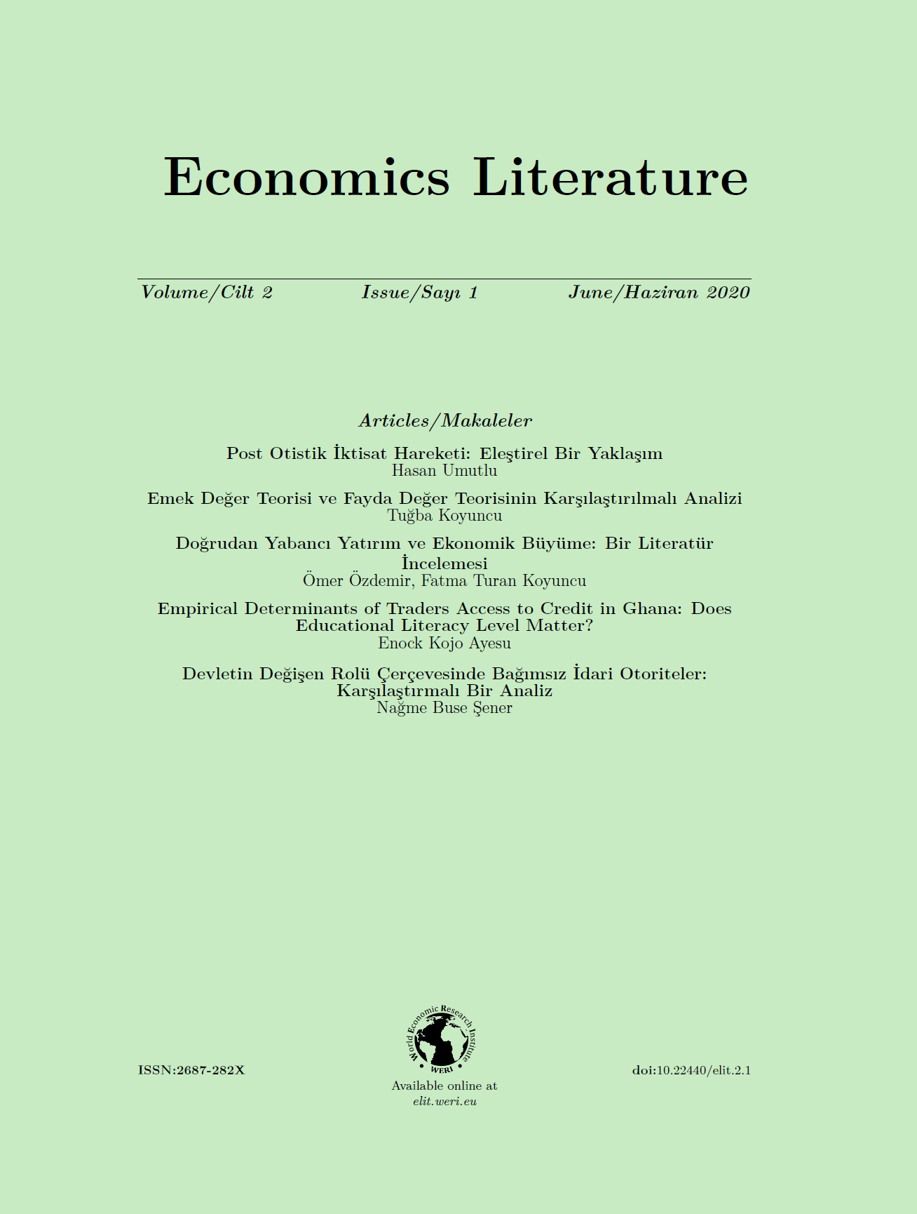Economics Literature-Asos İndeks