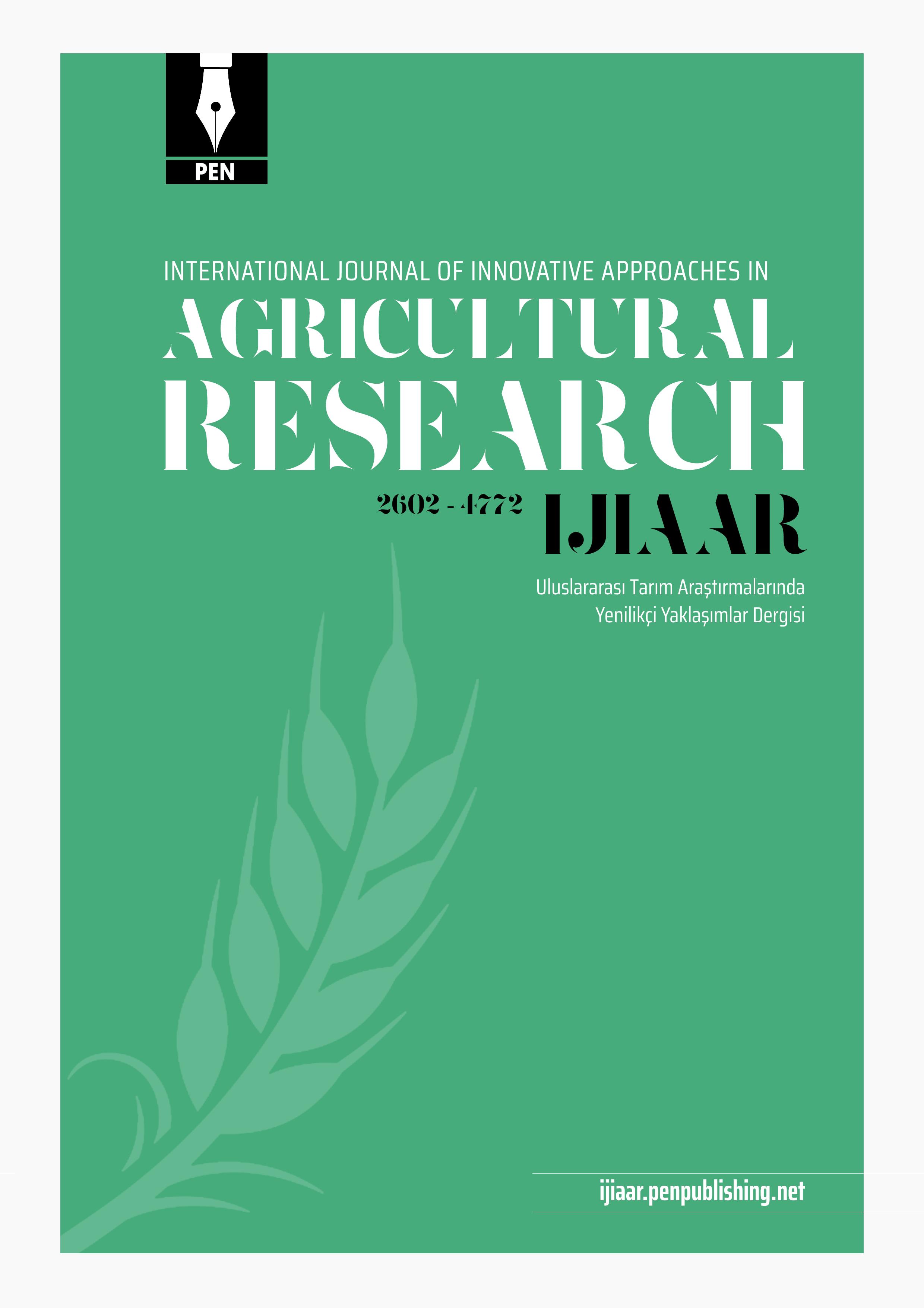 Uluslararası Tarım Araştırmalarında Yenilikçi Yaklaşımlar Dergisi-Asos İndeks