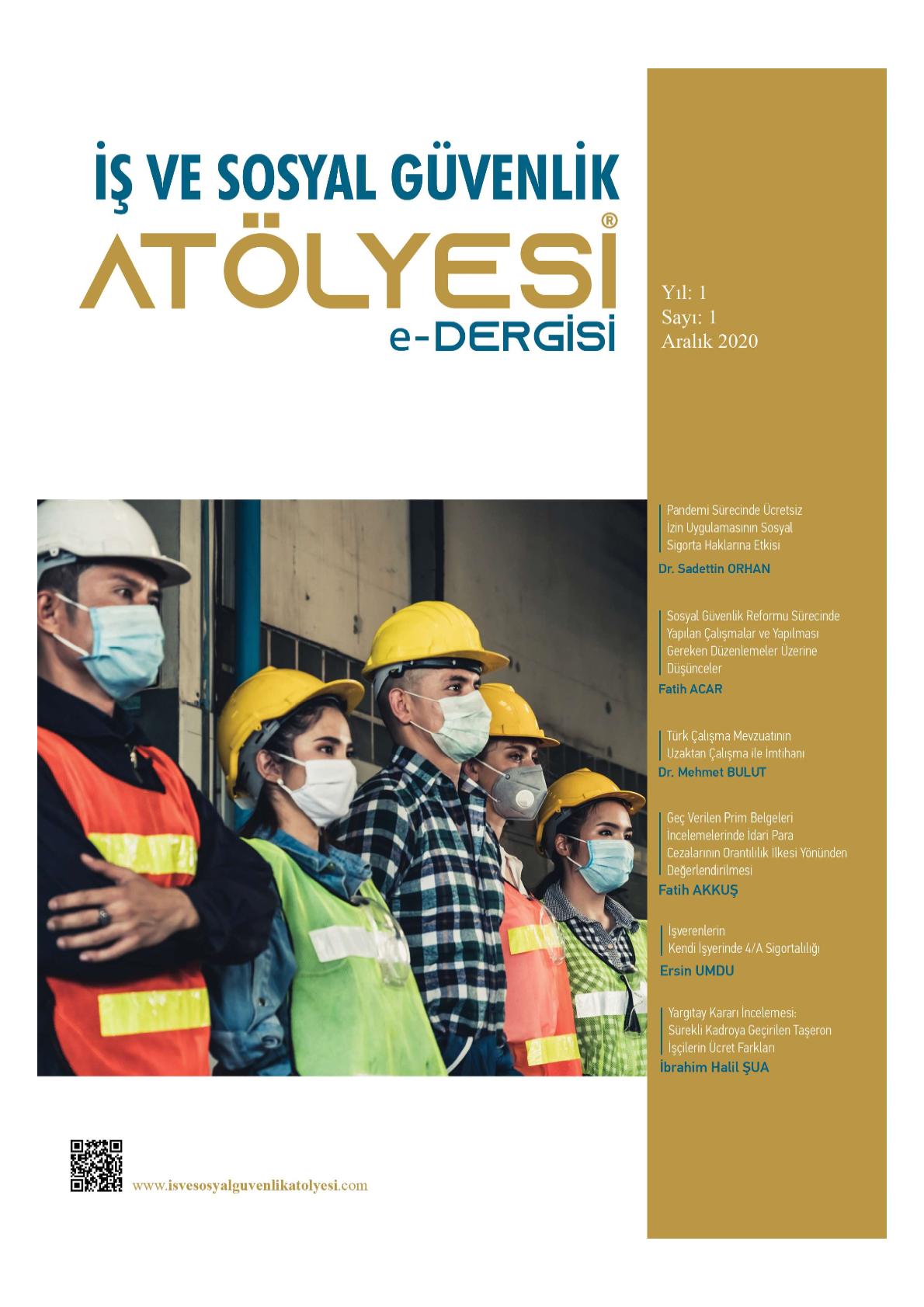 İş ve Sosyal Güvenlik Atölyesi e-Dergisi-Asos İndeks