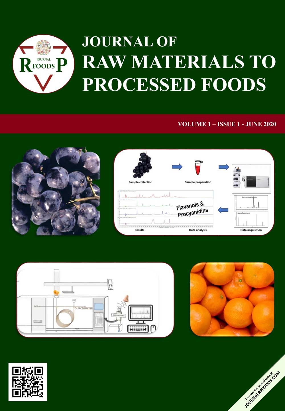 Journal of Raw Materials to Processed Foods-Asos İndeks